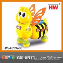 Funny cartoon musical bee b/o bulk plastic animal toys for kids