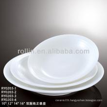 Double Line series hotel&restaurant fine porcelain kitchen set,dining set,solid color dinnerware
