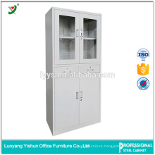 Customized cabinet hinge glass hanging door steel file cabinet for office