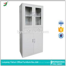 Armário de arquivo de aço de suspensão personalizado da porta de vidro da dobradiça do armário para o escritório