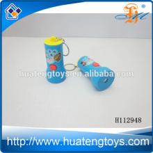 Hot plastic opel key chain ,solar LED flashlights key chain crank H112948