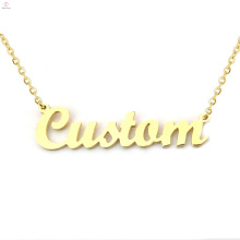 Personalized Name Monogram Nameplate Necklace