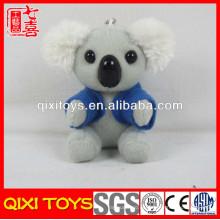 Llavero de la koala de la felpa del juguete del oso de koala de la camiseta de la fábrica de China