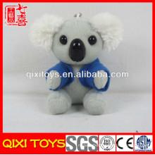 China factory T-shirt koala bear toy plush koala keychain