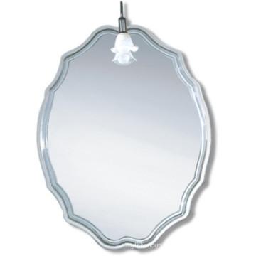 Runder konkurrenzfähiger Qualitäts-heller silberner dekorativer Badezimmer-Spiegel (JN008)