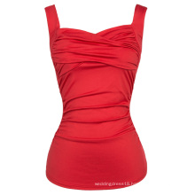 Belle Poque Sexy Sleeveless Sweetheart Classic Red Pinup Tank Tops BP000341-2