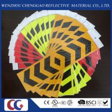 Etiqueta reflexiva dada forma seta do PVC dos veículos