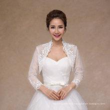 Bridal Shawl Wholesale New Design Wedding Jacket with Lace Edge