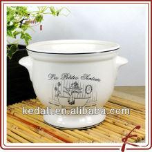 Maceta de jardín de cerámica