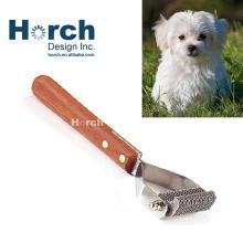 Durable Metal Grooming Smooth Wooden Handle Comb