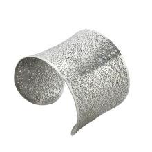 Moda em aço inoxidável oco para fora pulseiras com ponto de prata, Du bai pulseiras jóias