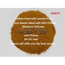 Harina de Gluten de maíz de alta calidad para la alimentación de pollo
