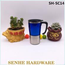 400ml Einzelne Wand Innen Edelstahl Kaffeetasse mit Griff (SH-SC14)