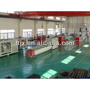 HDPE двустенных гофрированных труб Производственная линия для экструзии пластиковых труб