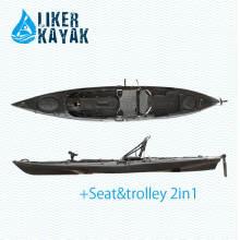 4.3m Kunststoff Roto Molding Kajak mit Kajak Trolley und Sitz für Option