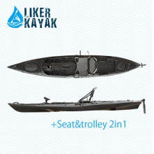4.3m Plastic Roto Moulding Kayak with Kayak Trolley and Seat for Option