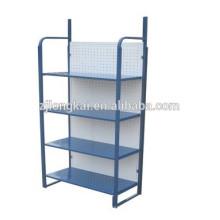 Mostrador resistente azul resistente del almacén del alambre del metal
