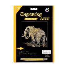 Papel criativo elefante de ouro artesanato raspadinhas