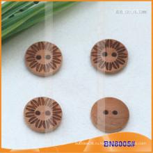 Природные деревянные кнопки для одежды BN8005