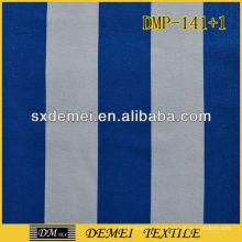 100 % imprimés coton bleu et blanc toile tissu rayé en gros