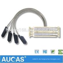China Fabrik Preis Telco Trunk Kabel / Kommunikation Kabel Stecker / Buchse Veränderbar für Telefon Daten Anschluss Draht
