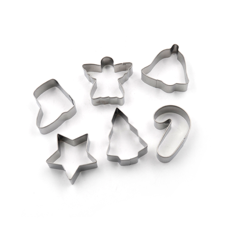 Christmas 6pcs Cookie Cutter Set with Tin Box