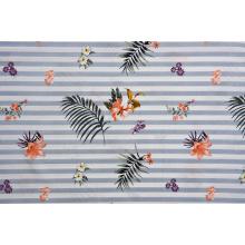 Tissus imprimés de motif de feuille de tissu de viscose de haute qualité
