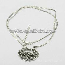 Atacado jóia de prata antiga 925 colar de prata esterlina para o menino