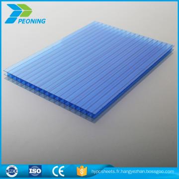Bon prix Plaque de polycarbonate résistant aux incendies à plusieurs murs de 12 mm