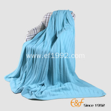 Classical Plain Knitted  Rib Structure Blanket