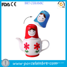 Wholesale Beauty Girl Design Japan Teapot with Cup