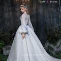 XXLF175 latest fashion long top design evening dress long sleeve women evening dress elegant