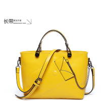 2015 Summer Womens Pure Color PU Leather Boutique Tote Bags Top Handle Handbag (ZX10078)
