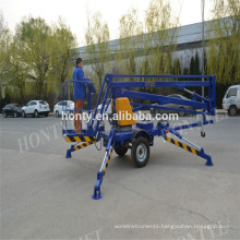 CE certificate trailer platform small boom lifts  small boom lifts introduction  small boom lifts : Structure  small boom lifts : working range  small boom lifts paremeters:   small boom lifts's advantages :