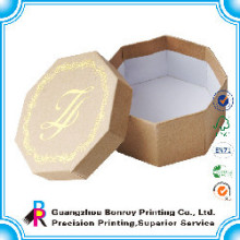 Tipos de cajas de cartón de forma de círculo reciclado personalizado al por mayor