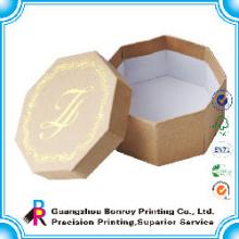 Tipos de caixa de cartão de forma de círculo reciclado personalizado atacado