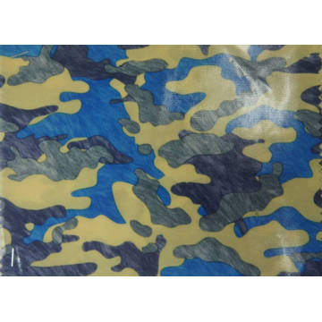 Tecido de poliéster de camuflagem 420d com revestimento de PU