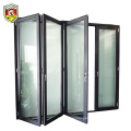French style extruded aluminum frame folding door/for low external price aluminum folding door
