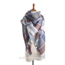 Novo design viscose verificado lenço quente / xale