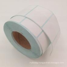 low price white plain paper sticker label