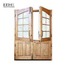 Holztürschleifmaschine Teakholz Doppeltür Design / Holzaußentürbilder