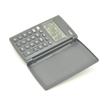 8 Digit Dual Power Foldable Pocket Calculator with Cover