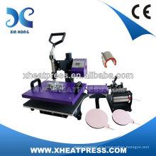 6IN1 Combo camiseta de encargo de la etiqueta del tinte de la máquina de la prensa del calor