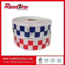 Reflective lattice checker tape for police
