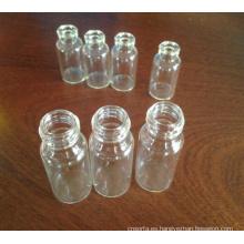 Claro tubular atornillado frascos de vidrio para embalaje