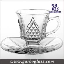 Ensemble de tasses et de soucoupes en verre décoratif à design moderne (TZ-GB09D1204ZS)