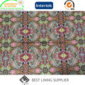 Beautiful Men′s Jacket Liner Lining Paper Printing Lining Fabric