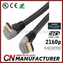 Cabo HDMI de ângulo reto