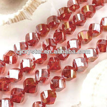 4mm Twist Crystal Beads