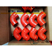 FM/UL Approved Grooved 90º Elbow (grooved pipe fittings)